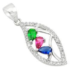 Red ruby sapphire ruby quartz sapphire quartz 925 sterling silver pendant c22125