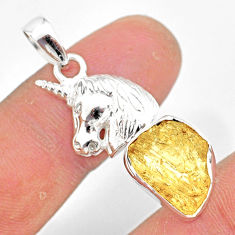 7.97cts scapolite 925 sterling silver horse pendant jewelry r80974
