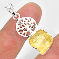 7.79cts scapolite 925 sterling silver tree of life pendant jewelry r80962
