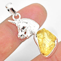 8.80cts scapolite fancy shape 925 sterling silver horse pendant jewelry r80972