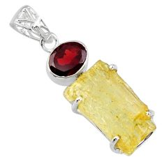 17.21cts scapolite red garnet 925 sterling silver pendant jewelry r57017