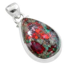 15.65cts sonora sunrise (cuprite chrysocolla) 925 sterling silver pendant t45064
