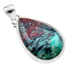 16.18cts sonora sunrise (cuprite chrysocolla) 925 sterling silver pendant t45072