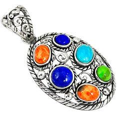 Southwestern arizona sleeping beauty turquoise 925 silver pendant jewelry c10415