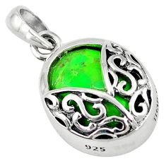 Southwestern green copper turquoise 925 sterling silver pendant jewelry c10522