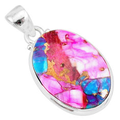 11.70cts spiny oyster arizona turquoise 925 sterling silver pendant r83393