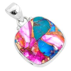 13.73cts spiny oyster arizona turquoise 925 sterling silver pendant r93508