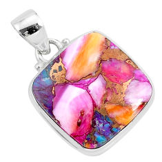 14.23cts spiny oyster arizona turquoise 925 sterling silver pendant r93514
