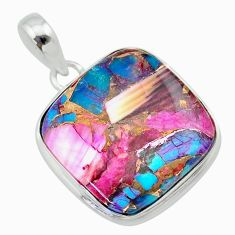 14.68cts spiny oyster arizona turquoise 925 sterling silver pendant t32330
