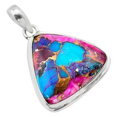 17.22cts spiny oyster arizona turquoise 925 sterling silver pendant t32336