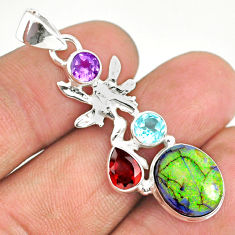 7.50cts sterling opal 925 sterling silver angel wings fairy pendant r84588