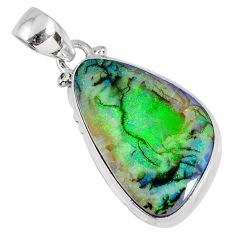 9.33cts sterling opal 925 sterling silver pendant jewelry r58736