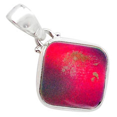 3.62cts volcano aurora opal (lab) 925 sterling silver pendant jewelry t25874