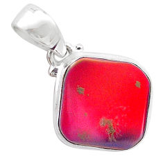 4.03cts volcano aurora opal (lab) 925 sterling silver pendant jewelry t25878
