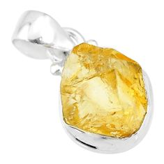 8.33cts yellow citrine raw 925 sterling silver pendant jewelry t4304