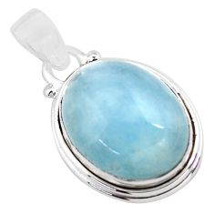 14.39cts natural blue aquamarine 925 sterling silver pendant jewelry p72812