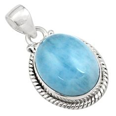 14.26cts natural blue aquamarine 925 sterling silver pendant jewelry p77890