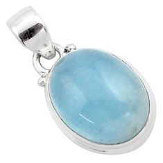 13.66cts natural blue aquamarine 925 sterling silver pendant jewelry p88422