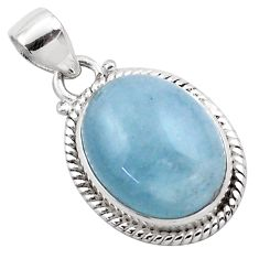 14.72cts natural blue aquamarine 925 sterling silver pendant jewelry p88423