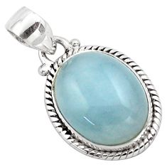 14.40cts natural blue aquamarine 925 sterling silver pendant jewelry p88426