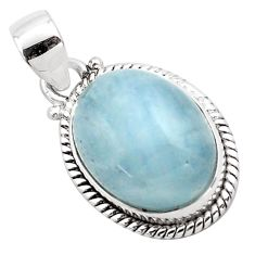 14.12cts natural blue aquamarine 925 sterling silver pendant jewelry p88428