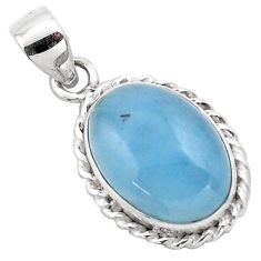 14.72cts natural blue aquamarine 925 sterling silver pendant jewelry p88429