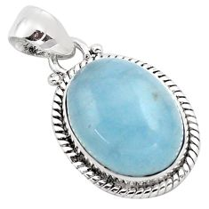 13.28cts natural blue aquamarine 925 sterling silver pendant jewelry p88431
