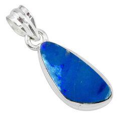 7.97cts natural blue doublet opal australian 925 sterling silver pendant p68900