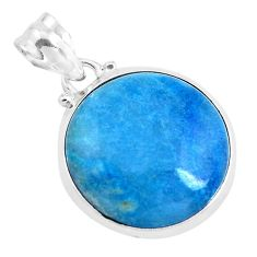 15.08cts natural blue dumortierite 925 sterling silver pendant jewelry p40859