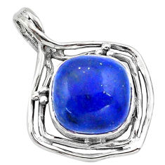14.90cts natural blue dumortierite 925 sterling silver pendant jewelry p80909