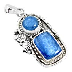 10.00cts natural blue kyanite 925 sterling silver pendant jewelry p41996