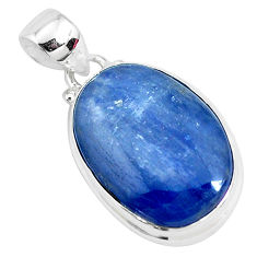17.22cts natural blue kyanite 925 sterling silver pendant jewelry p47260