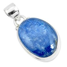 17.57cts natural blue kyanite 925 sterling silver pendant jewelry p47271