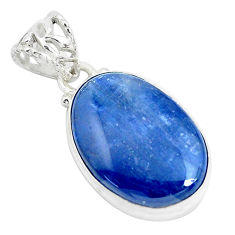 18.70cts natural blue kyanite 925 sterling silver pendant jewelry p47272