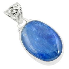 17.22cts natural blue kyanite 925 sterling silver pendant jewelry p57935