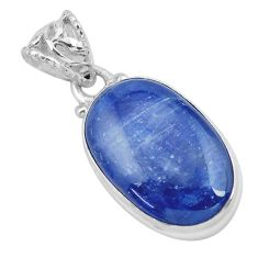15.65cts natural blue kyanite 925 sterling silver pendant jewelry p59501