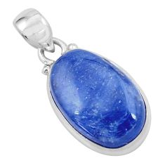 17.39cts natural blue kyanite 925 sterling silver pendant jewelry p59509