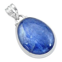 21.48cts natural blue kyanite 925 sterling silver pendant jewelry p59512