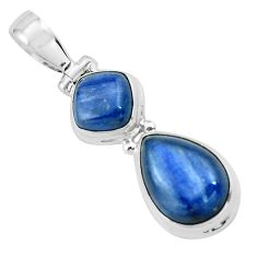 8.73cts natural blue kyanite 925 sterling silver pendant jewelry p67322