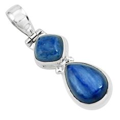 8.54cts natural blue kyanite 925 sterling silver pendant jewelry p67325