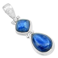8.54cts natural blue kyanite 925 sterling silver pendant jewelry p67329
