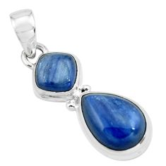 8.54cts natural blue kyanite 925 sterling silver pendant jewelry p67331