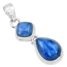 8.22cts natural blue kyanite 925 sterling silver pendant jewelry p67334