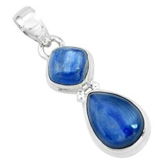8.45cts natural blue kyanite 925 sterling silver pendant jewelry p67335
