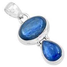 8.22cts natural blue kyanite 925 sterling silver pendant jewelry p67356