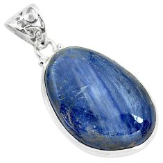 33.29cts natural blue kyanite 925 sterling silver pendant jewelry p71926