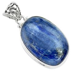 30.88cts natural blue kyanite 925 sterling silver pendant jewelry p71928