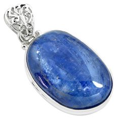 31.53cts natural blue kyanite 925 sterling silver pendant jewelry p71938