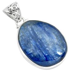 29.34cts natural blue kyanite 925 sterling silver pendant jewelry p71940