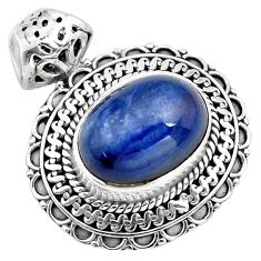 10.74cts natural blue kyanite 925 sterling silver pendant jewelry p86701